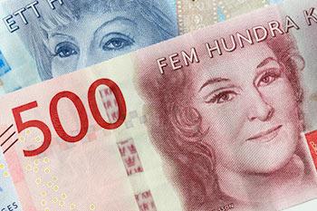 Närbild på en 500 kr sedel