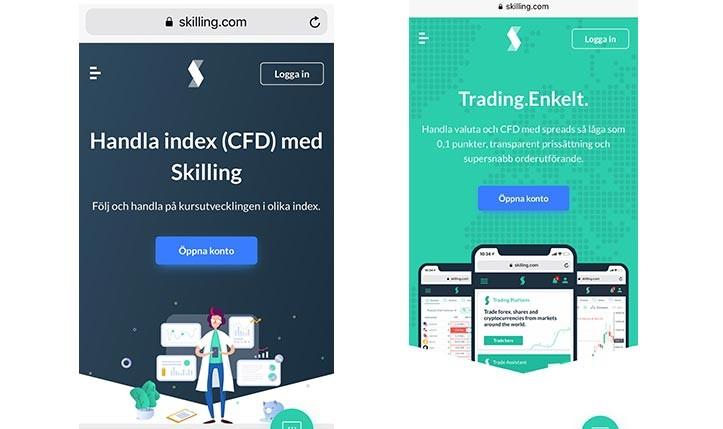 Handla index med Skilling