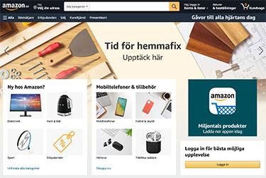 Amazon's svenska hemsida