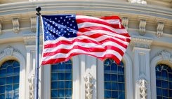 amerikas flagga Capitol Hill