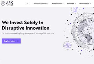Ark Invest hemsida