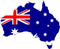 Australien Karta