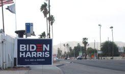 Biden Harris skylt i USA