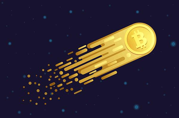 Bitcoin flyger som en raket