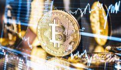 Bitcoin graf med hög volatilitet