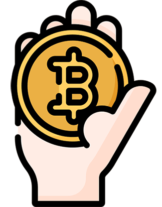 Bitcoin i handen