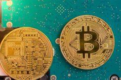 Bitcoin teknik - Två mynt med elektroder