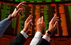 Börsgolv med traders