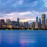 Chicago, solnedgång