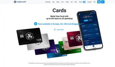 crypto.com visakort