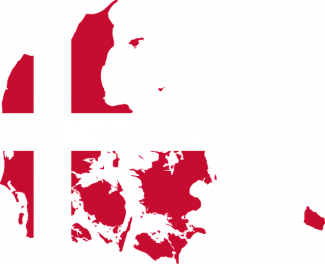 Danmark flagga karta
