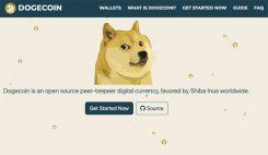 Dogecoin hemsida