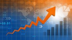Världskarta med ekonomisk tillväxt