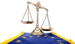 EU flagga med en våg