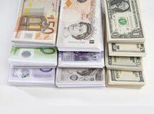 Euro, pund och dollar