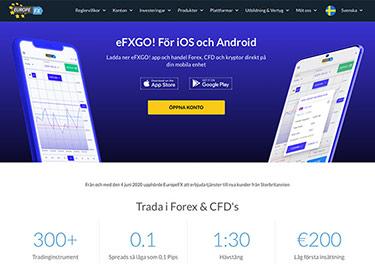 Europe Fx: Den svenska sajten