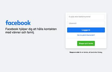 Facebook webbplats
