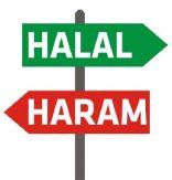 Halal eller haram - en skylt med vägvisning