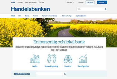 Handelsbankens hemsida