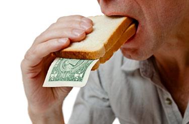 Inflation med pengar som äts upp
