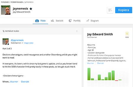 Jay Smith statistik