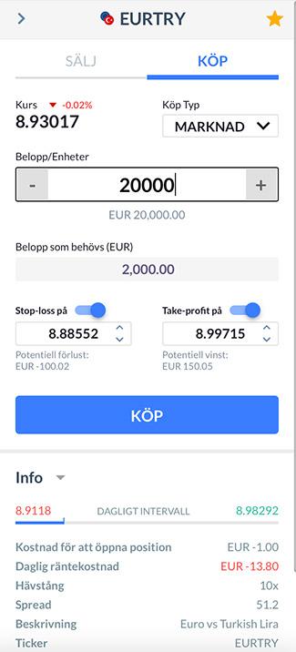 Köp EUR/TRY