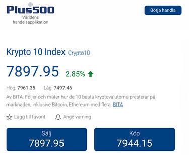 Krypto Index: Plus500