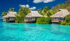 Ön Moorea på Tahiti