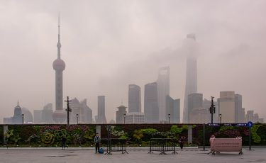 Smog dimma Shanghai