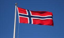Norska flaggan i topp