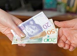 Svenska kronor - Sedlar i olika valörer