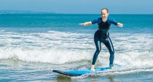 Nybörjare inom surfing