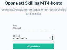 Öppna MT4 konto hos Skilling