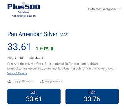 Paas via Plus500