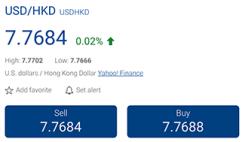 Plus500 - Trading med USD/HKD