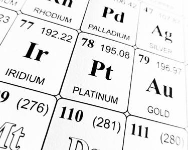 PT - det kemiska namnet för platina
