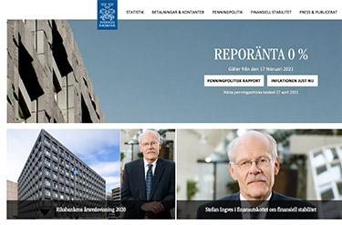 Riksbankens hemsida
