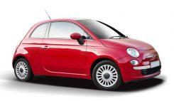 Röd Fiat bil