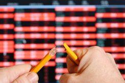 Börsnedgång: Bryter pennan efter röda siffror