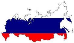 Ryska flaggan som karta