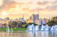 Sao Paulo - Utsikt från ibirapuera parken