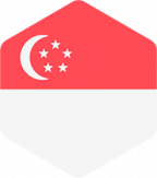Singapore's flagga