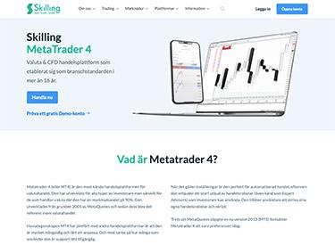 MetaTrader 4 hos Skilling