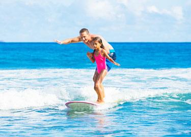 Surfing på små vågor
