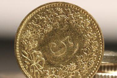 CHF mynt guld