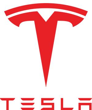 Tesla röd logo