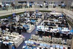 Tradinggolv för valutahandel