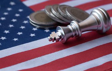 USA flagga: Kungen faller i schack