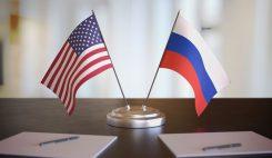 USA & Rysslands flaggor