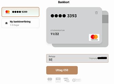 Uttag med bankkort på Capital
